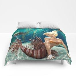 cute mermaid Comforters