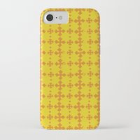 yellow pattern iPhone & iPod Cases featuring yellow pattern by JesseRayus