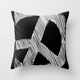 Peace Sign Sketch Throw Pillow