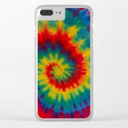 Tie Dye 1 Clear iPhone Case