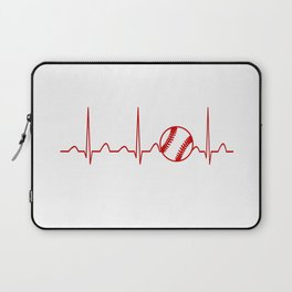 SOFTBALL HEARTBEAT Laptop Sleeve