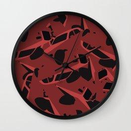 Crazy Phantom ::: red Wall Clock