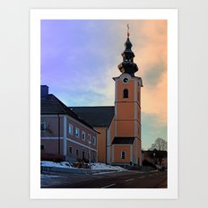The village church of Traberg I | architectural photography Art Print