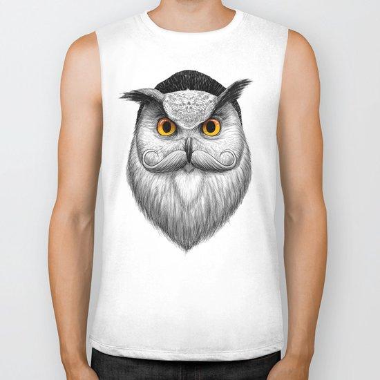 bearded owl Biker Tank