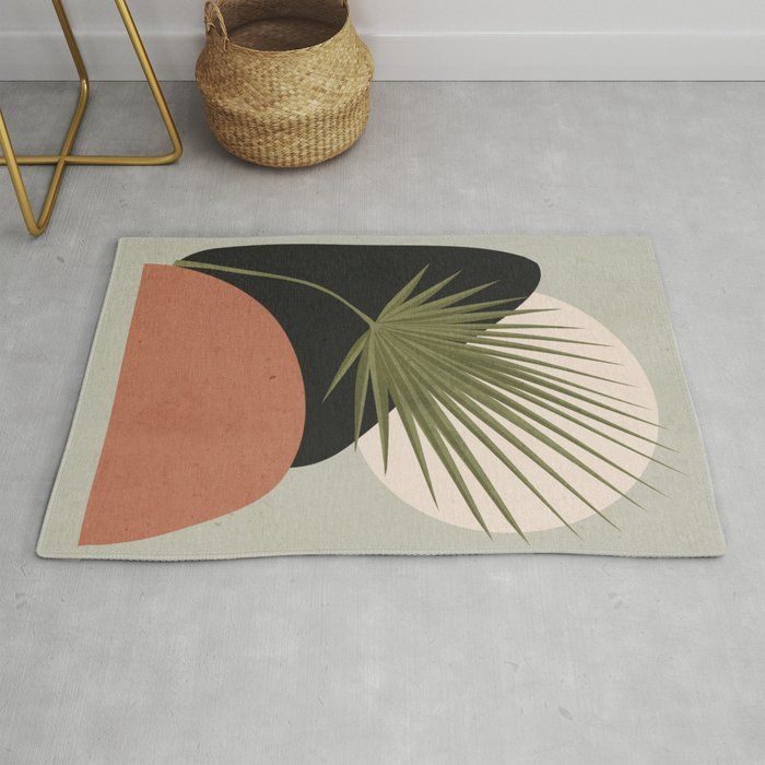 Tropical Leaf- Abstract Art 5 Rug