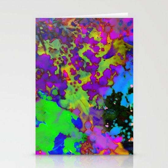 Floral Splatter Stationery Cards