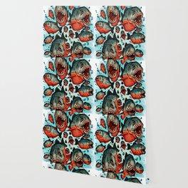 Frenzy Piranhas Wallpaper