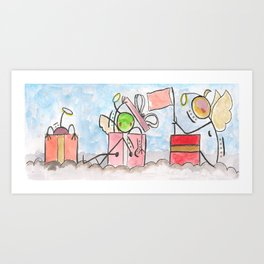"""#cagsticks """"Angels in x'mas boxes"""" Art Print"""