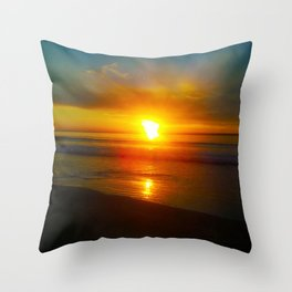Sunrise over the Bay Throw Pillow