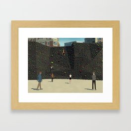 Wall Climbing Framed Art Print