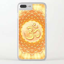 Lotos Om Clear iPhone Case