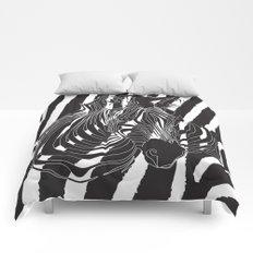 Zebra - Optical Art 5 Comforters