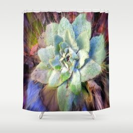 Mullein with ice Shower Curtain