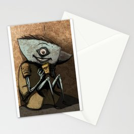 Anvil head eat french fries in the corner. Stationery Cards