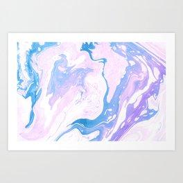 Pink Marble Art Print