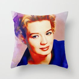 Angie Dickinson, Hollywood Legend Throw Pillow