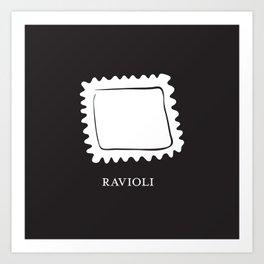 Pasta Series: Ravioli Art Print