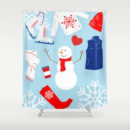 May all your days be snow days Shower Curtain