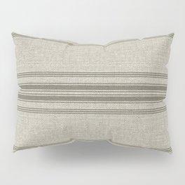 Vintage Farmhouse Rustic Linen Grain Sack - Beige Horizontal Pillow Sham