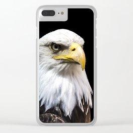 Majestuous Bald Eagle Clear iPhone Case