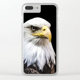 Majestuous Bald Eagle Clear iPhone Case