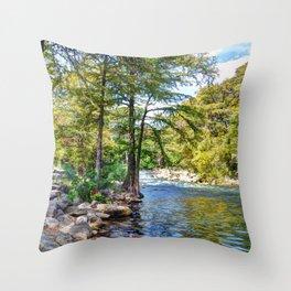 Guadalupe River - Gruene Texas Throw Pillow