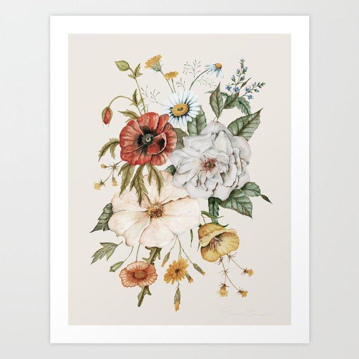 Wildflower Bouquet Kunstdrucke