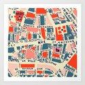 paris map blue by hollizollinger