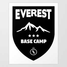 Mount Everst Base Camp Art Print