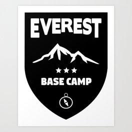 Mount Everst Base Camp Art Print