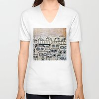 the neighbourhood V-neck T-shirts featuring Crowded neighbourhood by Ahoyhoy