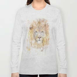 "Watercolor Painting of Picture ""African Lion"" Long Sleeve T-shirt"