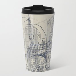 New York! Metal Travel Mug