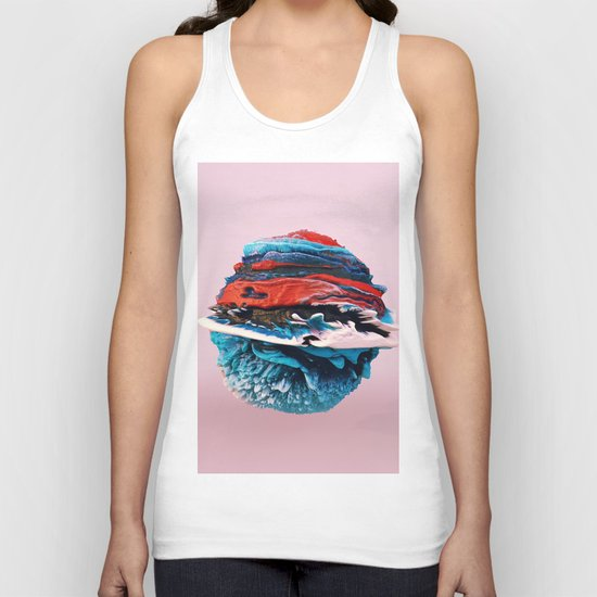 ACRYLIC BALL ABSTRACT // 3D ABSTRACT Unisex Tank Top