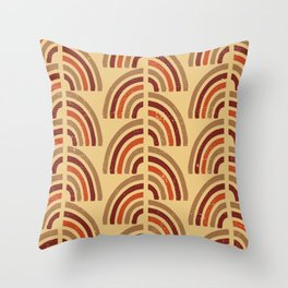 Rusty and sand. Abstract pattern Throw Pillow