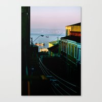chile Canvas Prints featuring Valparaiso, Chile. by Color Snack: Watercolor & Lettering