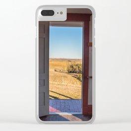 Hurd Round House, Wells County, North Dakota 32 Clear iPhone Case