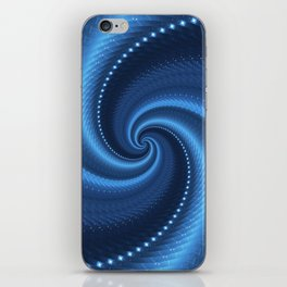 POWER SPIRAL UNIVERSE IN BLUE iPhone Skin