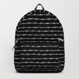 barbed wire stripe - black Backpack