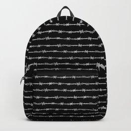 barbed wire stripe - black Backpack