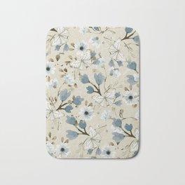 Flowers and Butterflies Bath Mat