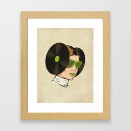 Princess L. was a DJ Framed Art Print
