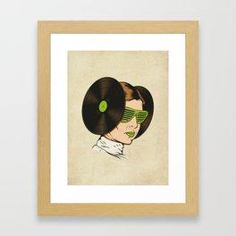 Princess L. was a DJ Framed Art Print