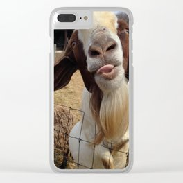 Goat Smiles Clear iPhone Case