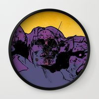 rush Wall Clocks featuring Rush by dvhstudios