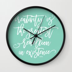 creativity rebellion Wall Clock
