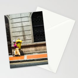 Footprints in Peru-travel, city streets, wanderlust Stationery Cards