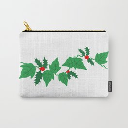 Holly and Ivy Carry-All Pouch