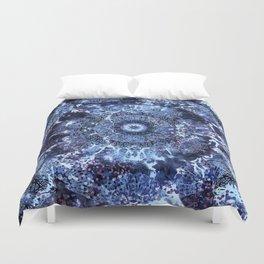 Iris Mandala Blue Duvet Cover