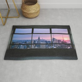 New York City Skyline Views Rug